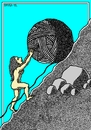 Cartoon: Sisyphina (small) by srba tagged women,8thmarch,sisyphus,hank