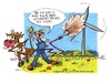 Cartoon: Windkraft (small) by irlcartoons tagged windenergie,windkraft,energie,windräder,umweltverschmutzung,rinder,kühe,methan,strom,stromnetz,rancher,bauer,pups,co2