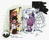 Cartoon: Zu spät (small) by irlcartoons tagged winter,schnee,eis,frost,winternacht,ehepaar,bar,ehealltag,nudelholz,beziehung,eisklotz,erfrieren,tod,irlcartoons