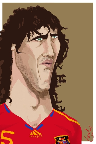 Cartoon: Carles Puyol (medium) by Bravemaina tagged carles,puyol,spain,soccer,football,barcelona