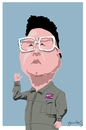 Cartoon: Kim Jong-il (small) by Bravemaina tagged kim,jong,il