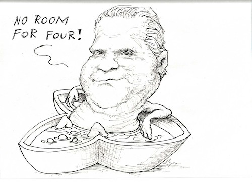 Cartoon: Doug Ford bathtub (medium) by Hugo_Nemet tagged bathtube