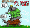 Cartoon: detective elephant modus (small) by aceratur tagged detective,elephant,modus