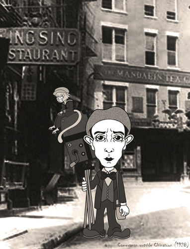 Cartoon: Buster Keaton (medium) by ana001 tagged buster,keaton,cameraman,1928,silent,films