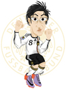 Cartoon: Mesut Özil (small) by ELPEYSI tagged futbol mediocampo alemania mesut özil