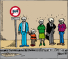 Cartoon: Bus stop (small) by marcosymolduras tagged bus,stop,marcosymolduras