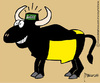 Cartoon: Evolution Bull Free (small) by marcosymolduras tagged bull free fiesta nacional cataluna