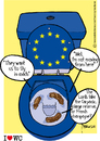 Cartoon: Talks shit MEP (small) by marcosymolduras tagged european,government,parliament,meps