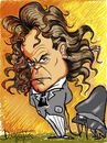 Cartoon: Beethoven (small) by David Goytia tagged musica beethoven piano