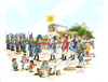 Cartoon: Encuentro (small) by LAINO tagged encuentro