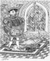 Cartoon: Henry VIII. (small) by LAINO tagged henry,viii