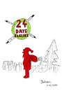 Cartoon: 24 Days Earlier (small) by Blogrovic tagged bobrovic,28,days,later,mas,horror,weihnachten,nikolaus,santa