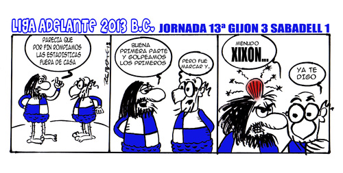 Cartoon: Division Maldita 13 (medium) by rebotemartinez tagged liga,adelante,sabadell