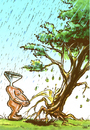 Cartoon: Human Nature (small) by Stan Groenland tagged cartoon,environmental,cycles,human,nature,disasters,flood,politics,welfare
