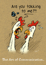 Cartoon: Tokking (small) by Stan Groenland tagged cartoon,funny,chickens,communication,animals,greeting,cards,illustration