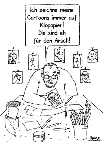 Cartoon: Für den Arsch (medium) by besscartoon tagged cartoon,zeichnen,klopapier,arsch,bess,besscartoon