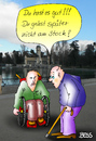 Cartoon: Alles Ansichtssache (small) by besscartoon tagged alt,alter,stock,rollstuhl,behindert,behinderung,bess,besscartoon