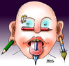Cartoon: Cartoonisten-Piercing (small) by besscartoon tagged mann,piercing,cartoon,cartoonisten,zeichnen,malen,bleistft,pinsel,feder,bess,besscartoon