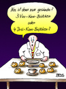 Cartoon: Gewissensfrage (small) by besscartoon tagged essen,diät,vollkorn,gesundheit,ernährung,gewissen,brötchen,bess,besscartoon