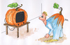 Cartoon: Halloween (small) by besscartoon tagged halloween horror fernsehen tv kürbis bess besscartoon