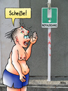 Cartoon: Notausgang (small) by besscartoon tagged mann,notausgang,urlaub,sommer,bess,besscartoon