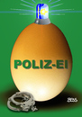 Cartoon: POLIZ-EI (small) by besscartoon tagged polizei,bullen,blaulicht,handschellen,gewalt,staatsmacht,ostern,bess,besscartoon