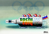 Cartoon: Sotschi (small) by besscartoon tagged putin,homophobie,schwulenfeindlichkeit,rußland,wintersport,sochi,sotschi,winterolympiade,vodka,bob,bobsport,alkohol,olympia,sport,besscartoon,bess