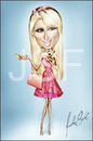Cartoon: Paris Hilton Caricature (small) by Jonsanfig tagged paris,hilton