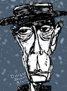 Cartoon: Buster Keaton (small) by Dunlap-Shohl tagged buster keaton