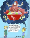 Cartoon: merry christmas (small) by lucholuna tagged merry,christmas,papa,noel