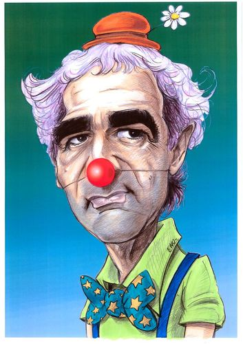 Cartoon: Raymond le clown (medium) by Eno tagged domenech,raymond,world,cup,football,france