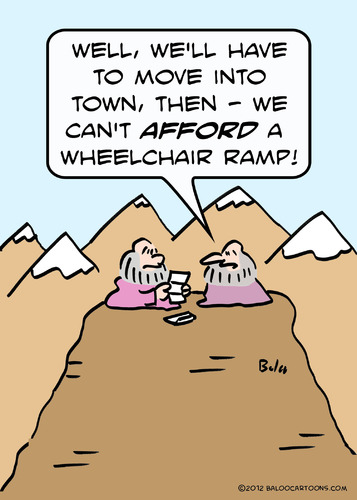 Cartoon: afford wheelchair ramp gurus (medium) by rmay tagged gurus,ramp,wheelchair,afford