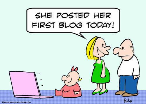 Cartoon: baby first blog today (medium) by rmay tagged baby,first,blog,today