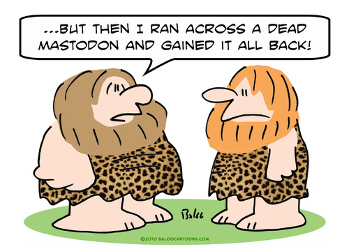 Cartoon: caveman gained weight mammoth (medium) by rmay tagged caveman,gained,weight,mammoth