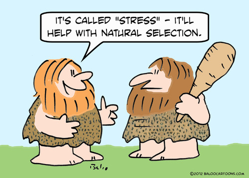 Cartoon: caveman natural selection stress (medium) by rmay tagged caveman,natural,selection,stress