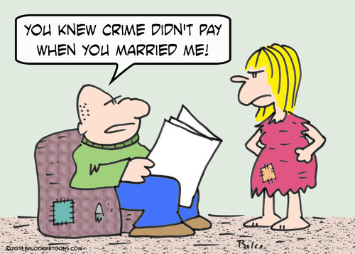 Cartoon: crime pay married marriage (medium) by rmay tagged crime,pay,married,marriage