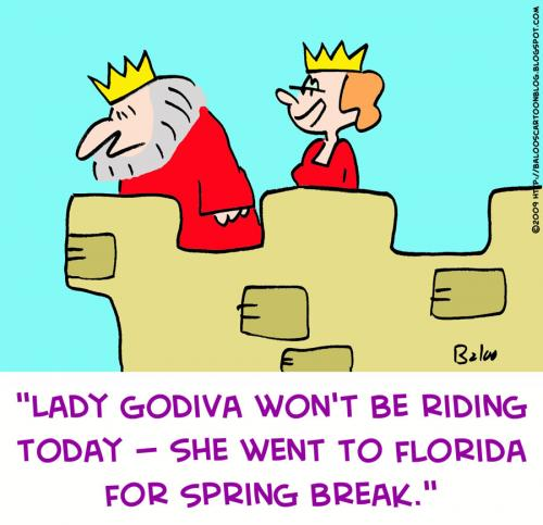 Cartoon: godiva lady florida spring break (medium) by rmay tagged godiva,lady,florida,spring,break