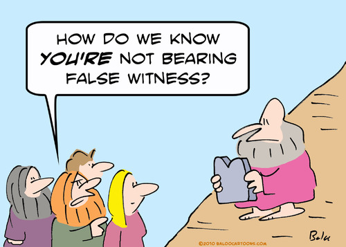 Cartoon: Moses bears false witness? (medium) by rmay tagged commandment,moses,bear,false,witness