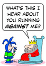 Cartoon: about running  king jester (small) by rmay tagged about,running,king,jester