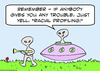 Cartoon: aliens racial profiling (small) by rmay tagged aliens,racial,profiling