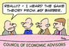 Cartoon: barber economic theory council (small) by rmay tagged barber,economic,theory,council