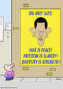Cartoon: big bro diversity strength obama (small) by rmay tagged big,bro,diversity,strength,obama