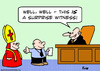 Cartoon: bishop surprise witness judge (small) by rmay tagged bishop,surprise,witness,judge