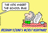 Cartoon: brigham young school bus (small) by rmay tagged brigham,young,school,bus