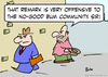 Cartoon: bum community offended (small) by rmay tagged bum,community,offended,panhandler