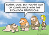 Cartoon: caveman compliant evolution (small) by rmay tagged caveman compliant evolution
