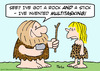 Cartoon: caveman stick rock invent multit (small) by rmay tagged caveman,stick,rock,invent,multitasking