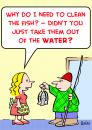 Cartoon: clean fish water (small) by rmay tagged clean,fish,water