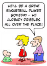 Cartoon: dribbles baby basketball player (small) by rmay tagged dribbles baby basketball player