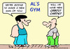 Cartoon: gym new man credit cards (small) by rmay tagged gym,new,man,credit,cards